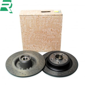 Renault OE Drilled Brake Discs CW Bearings and ABS rings -Rear- RenaultSport Megane 230