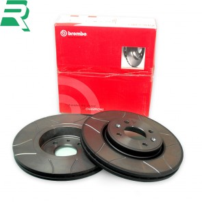 Brembo Max Grooved High Carbon (HC) Brake Discs -Front- RenaultSport Twingo 133