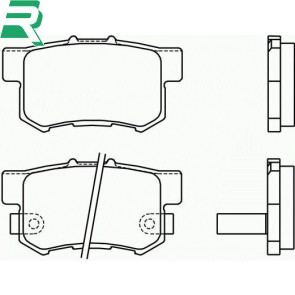 Brembo OEM brake pads -Rear- Honda Civic EP3 Type R