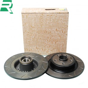 Renault OE Grooved Brake Discs CW Bearings and ABS rings -Rear- RenaultSport Clio 197/200