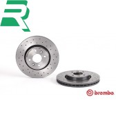 Brembo Xtra Drilled High Carbon (HC) Brake Discs -Front- RenaultSport Clio 172/182