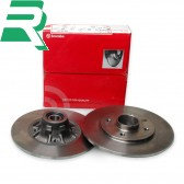 Brembo Brake Discs C/W Bearings - Rear - RenaultSport Clio 172 Cup