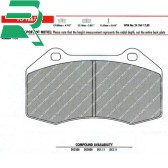 Ferodo Racing DS2500 brake pads -Front- RenaultSport Clio 197/200