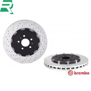 Brembo High Carbon (HC) Drilled Brake Discs UV Coated -Front- Audi B7 RS4
