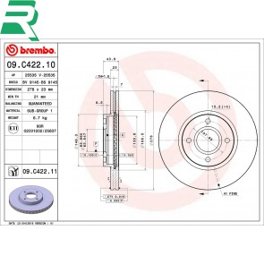 Brembo Brake Discs UV Coated -FRONT- Ford Fiesta ST180